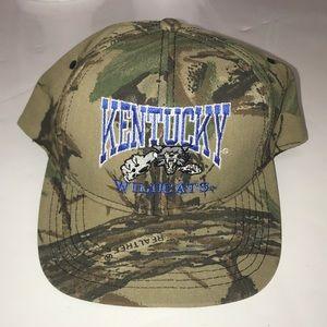 Kentucky Wildcat Camouflage Real-tree Hat Vintage